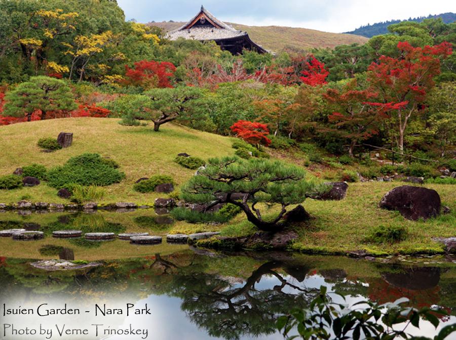 Isuien Garden - Nara Park, Kyoto, Japan